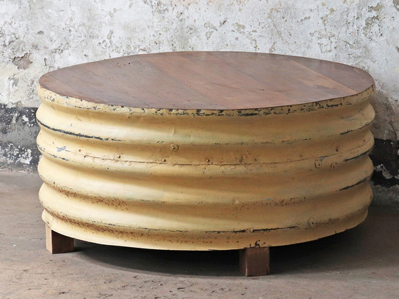Upcycled Coffee Table - Yellow Yellow