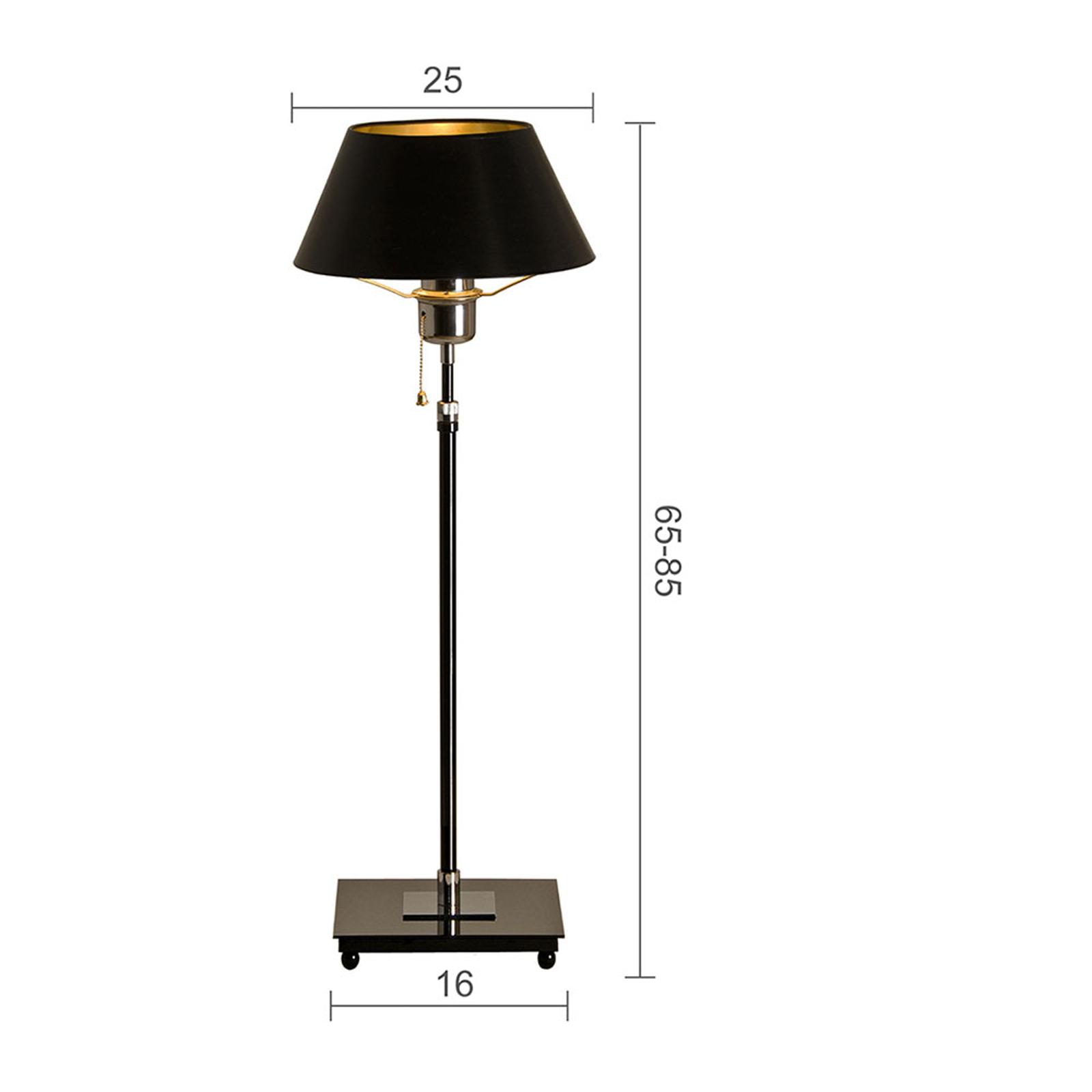 Menzel Antos AF4125 -pöytälamppu, musta varjostin