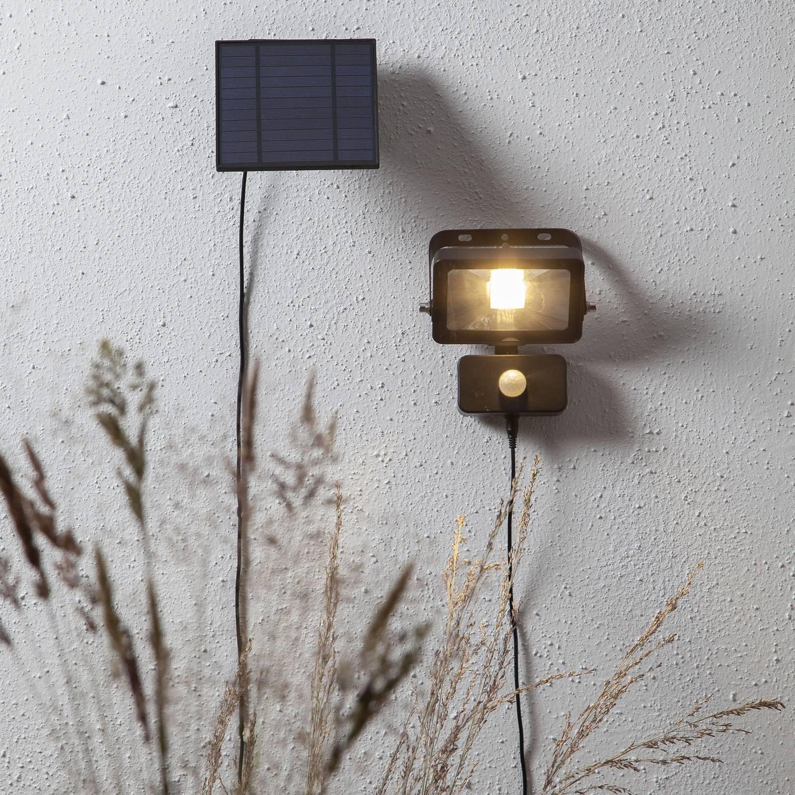 LED-sollampe Powerspot Sensor med bøyle 800 lm