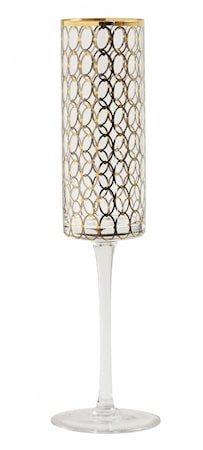 Champagneglass Gold Pattern