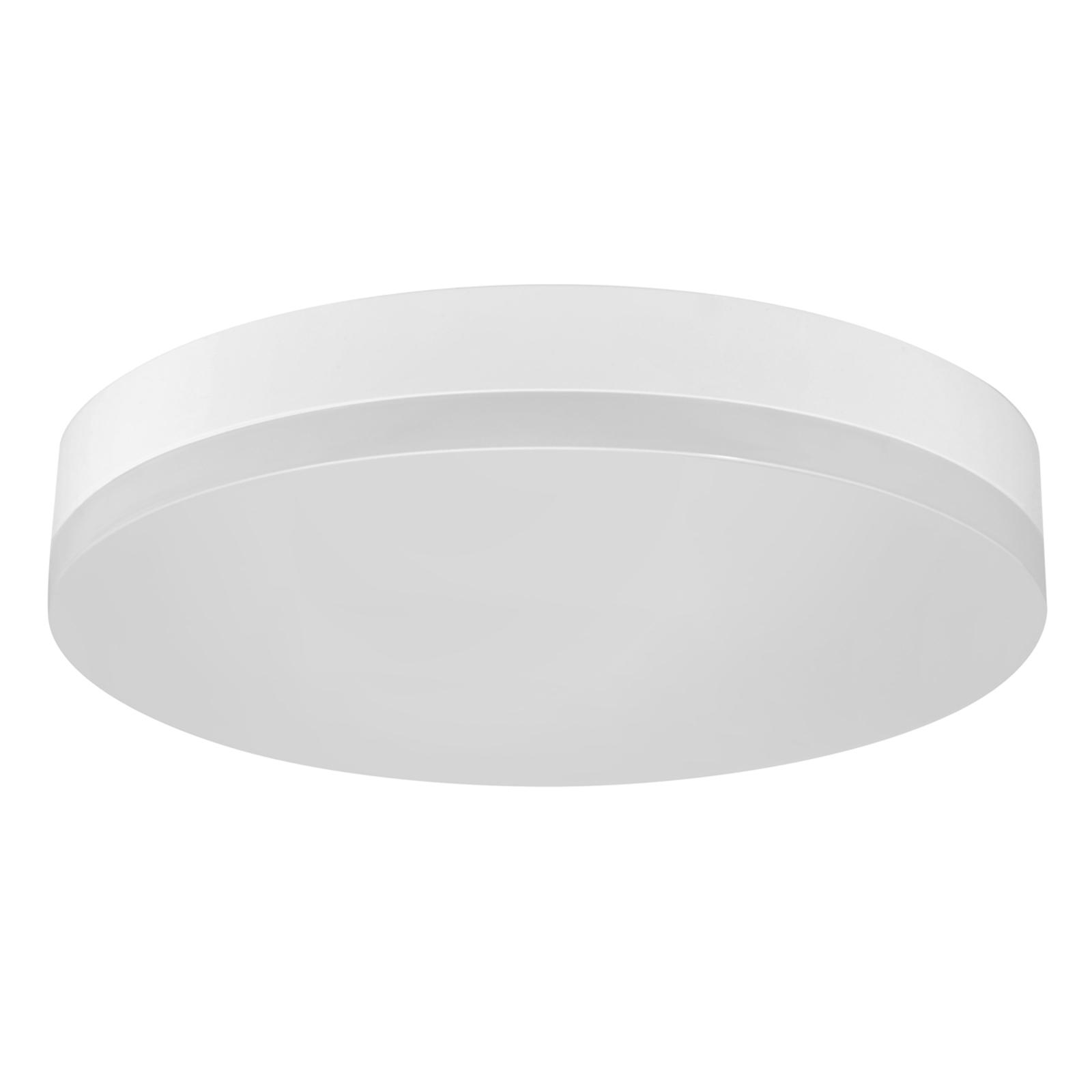 LED-kattovalaisin Office Round IP44 lämmin valk.