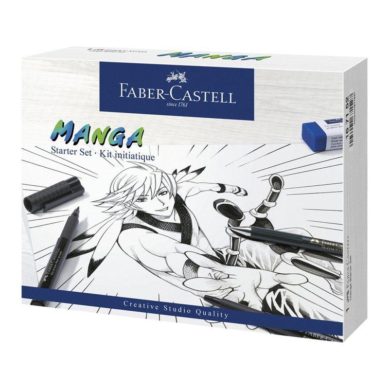 Faber-Castell - Pitt Artist Pen India ink pen, Manga Starter Set (167152)