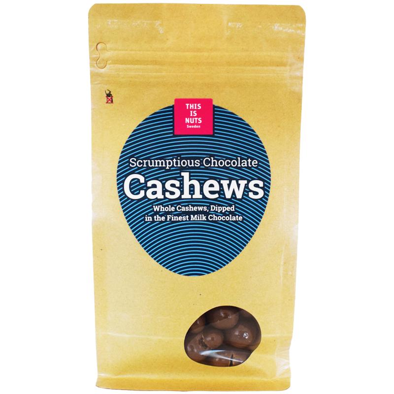 """Cashewnötter """"Scrumptious Chocolate"""" 250g - 45% rabatt"""