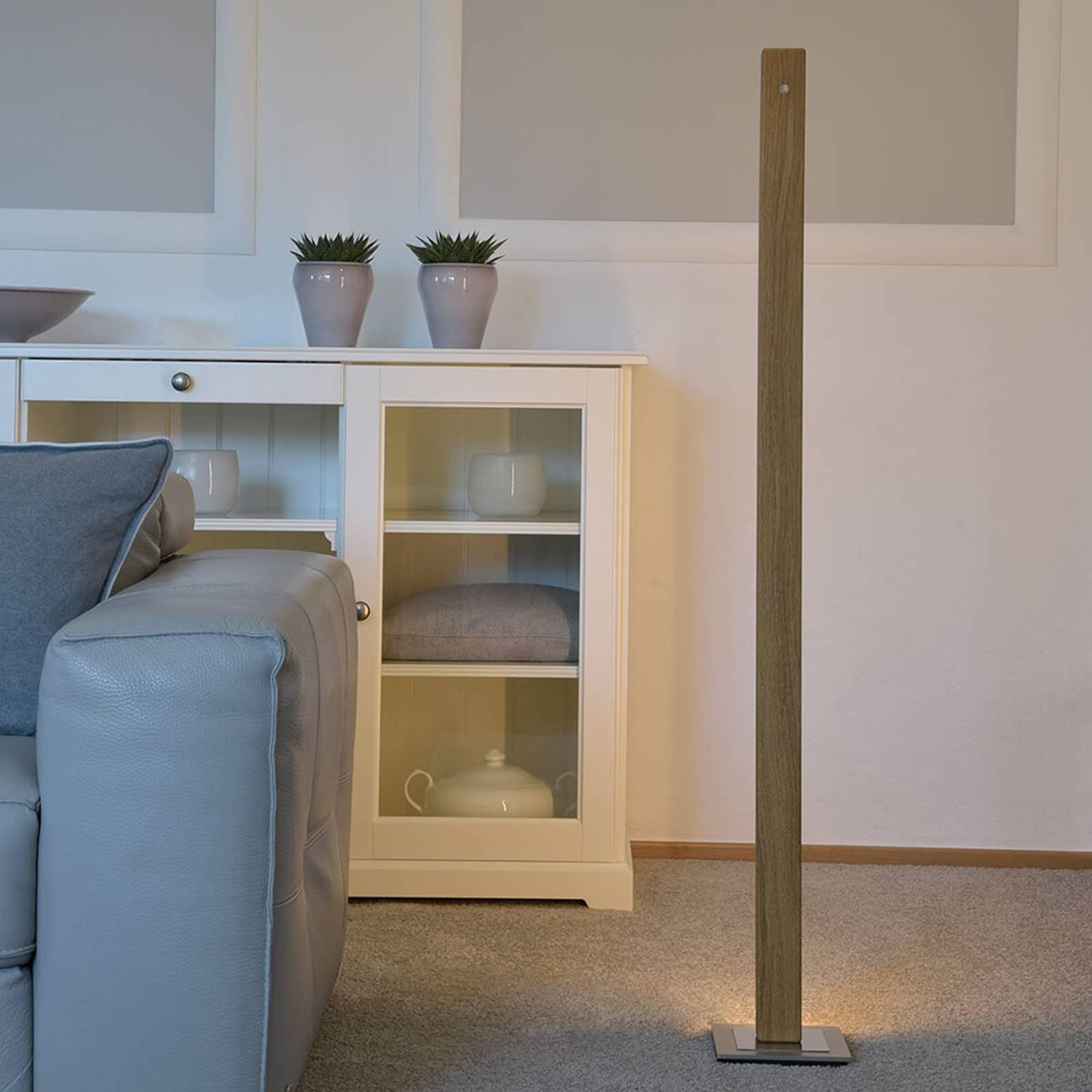 HerzBlut Leonora -LED-lattiavalo 122,5 cm, tammi