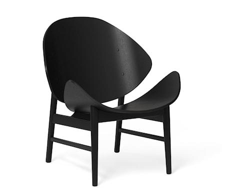 The Orange Lounge Chair Svartlackad Ek