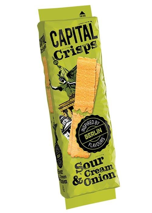 Capital Crisps Berlin, Sourcream & Onion 75g