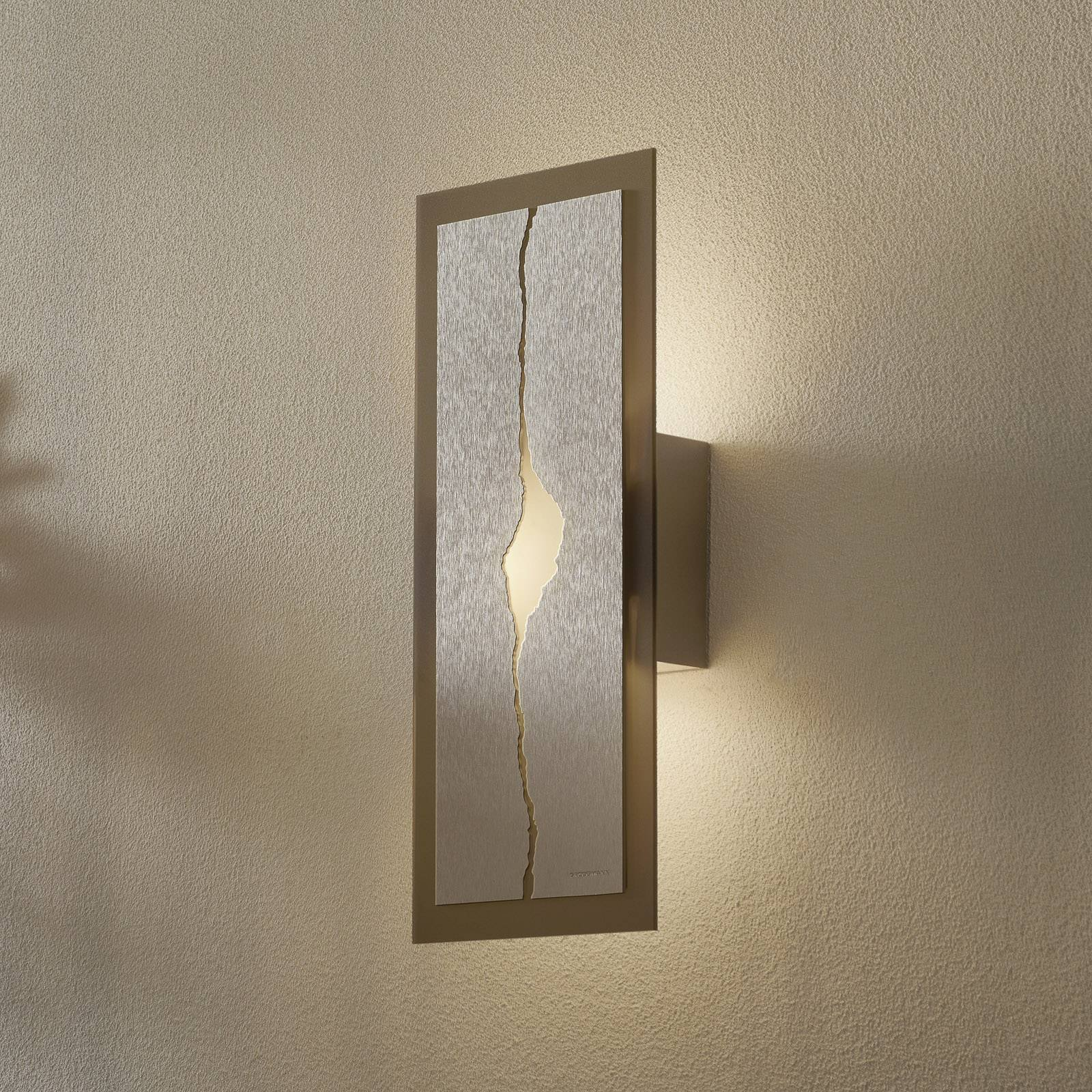 GROSSMANN Canyon LED-vegglampe, 42 x 18 cm