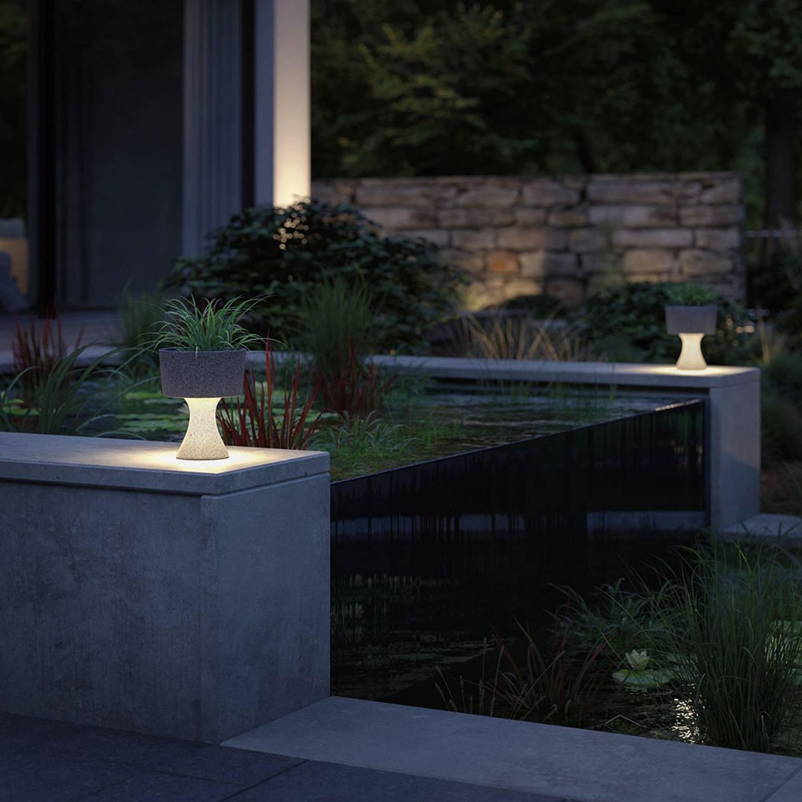 Paulmann Concrea -LED-koristevalaisin, kukka-astia