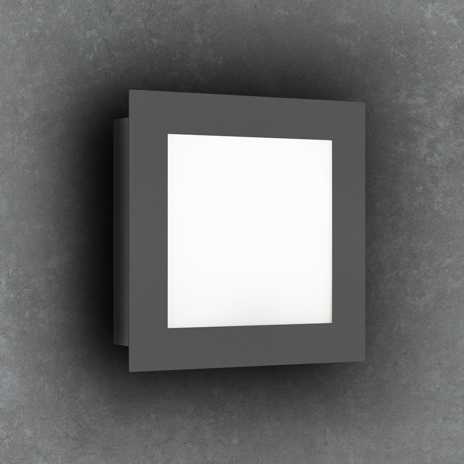LED-ulkoseinälamppu 3007LED, grafiitti