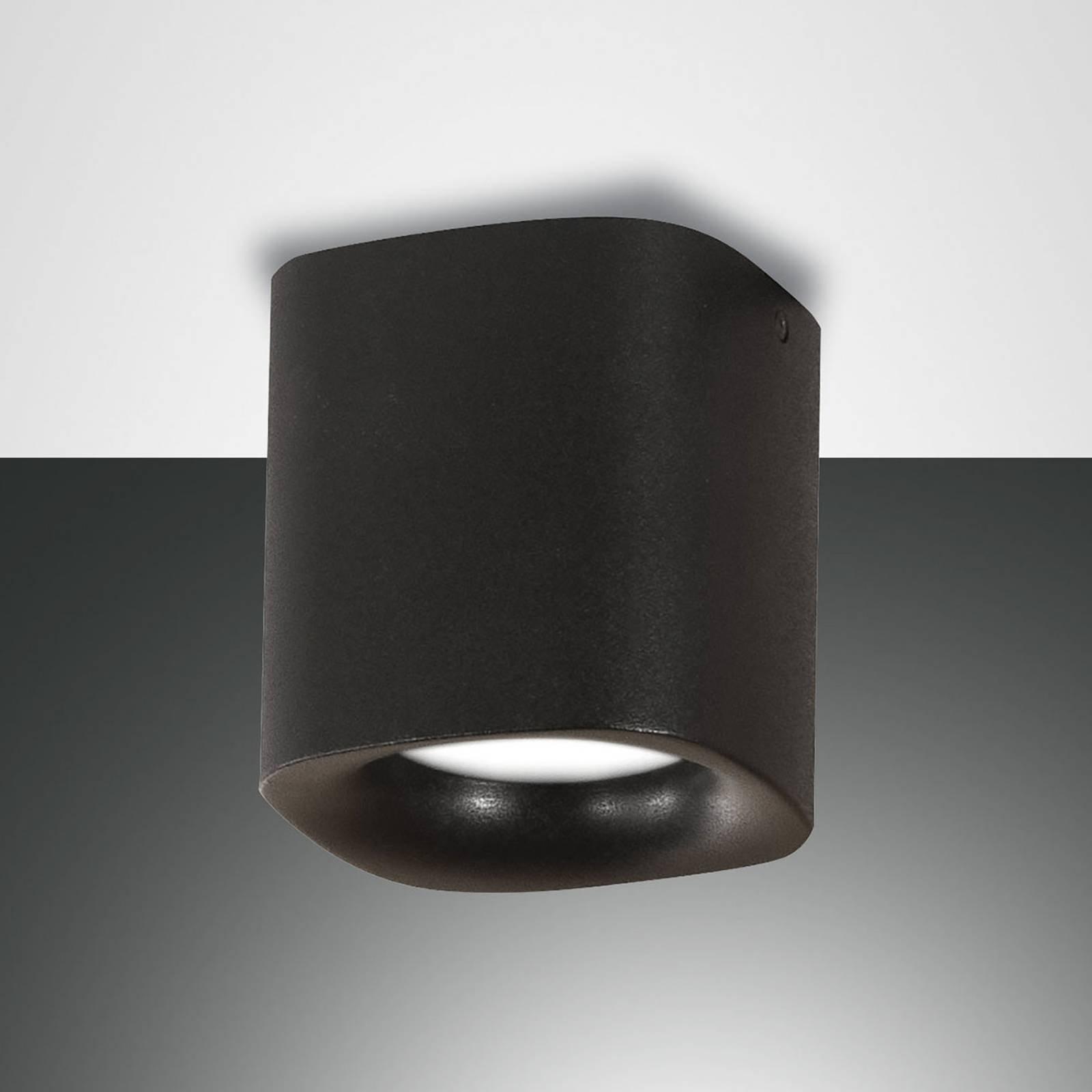 Taklampe Smooth, 1 lyskilde, svart, IP44