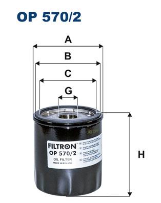 Öljynsuodatin FILTRON OP 570/2
