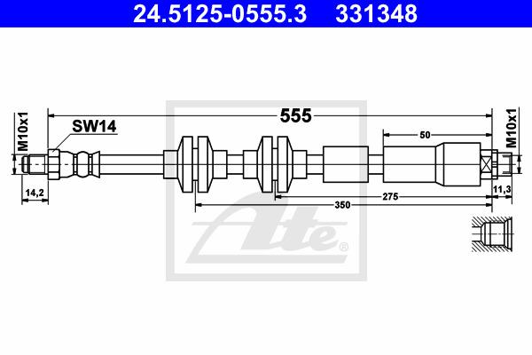 Jarruletku ATE 24.5125-0555.3