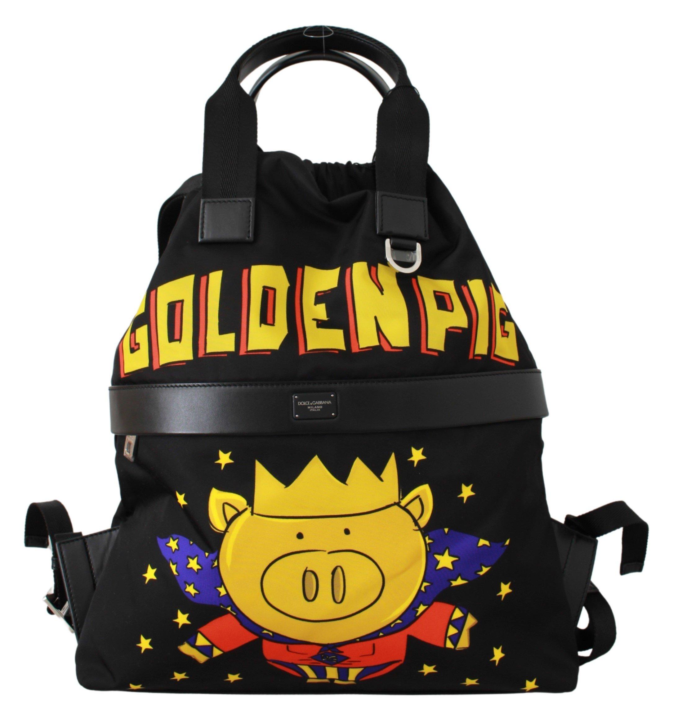 Dolce & Gabbana Men's Super Pig of the Year Backpack Black VAS9458