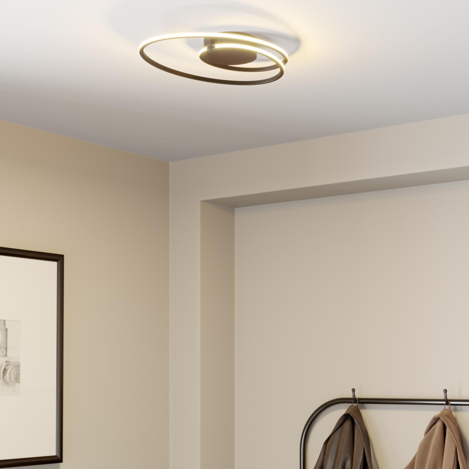 Lindby Xenias -LED-kattovalaisin, musta 49 x 30