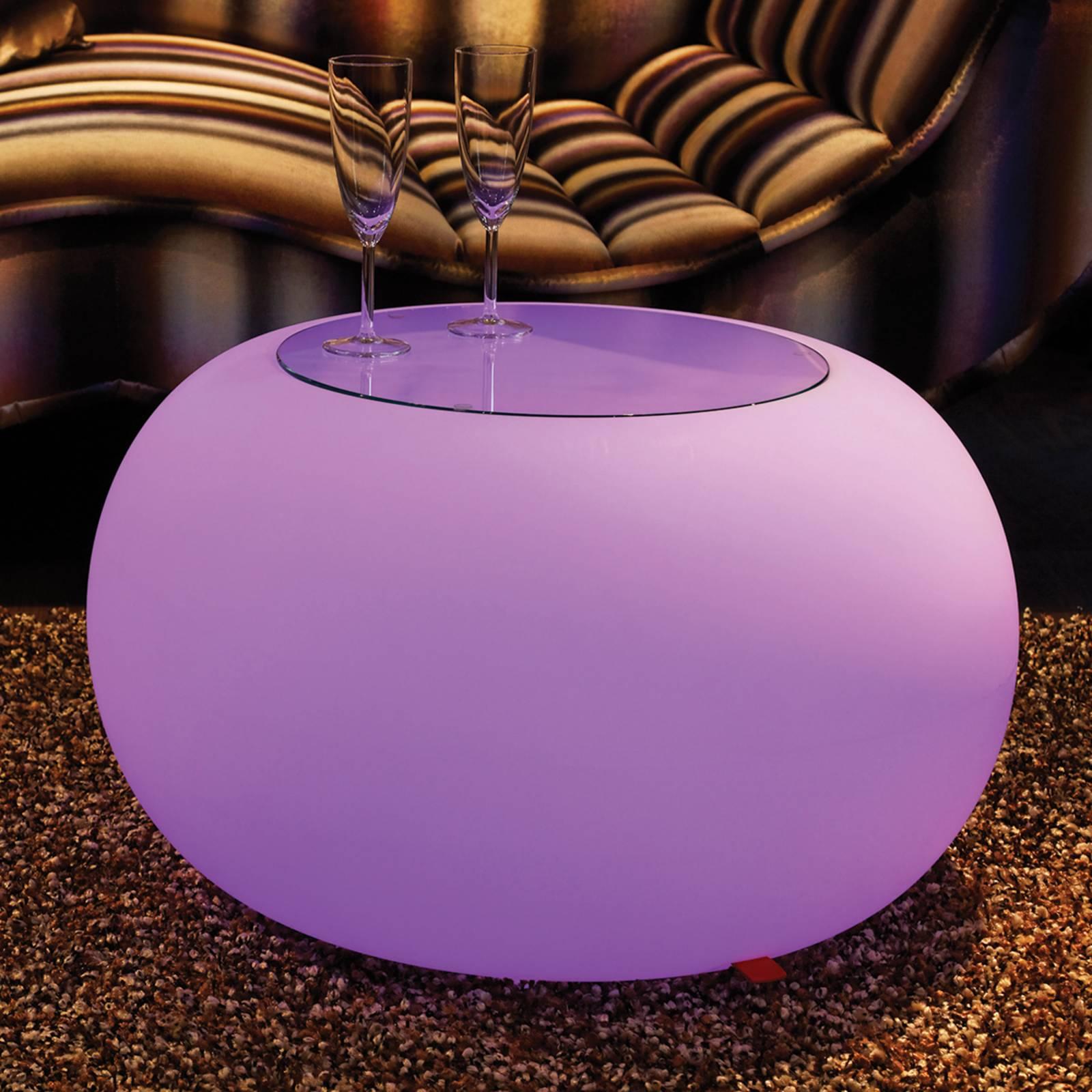 Pöytä Bubble Indoor LED RGB + lasilevy