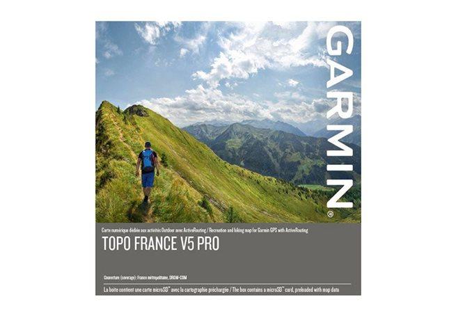 Garmin TOPO Frankrike v5 PRO, hela landet Garmin microSD™-/SD™-kort