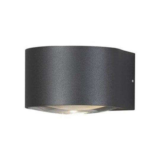 Konstsmide Gela Seinävalaisin LED, 6 W, 550 lm Tummanharmaa