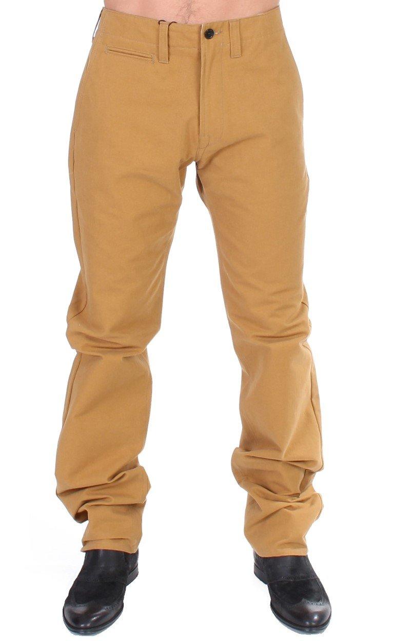 GF Ferre Men's Cotton Straight Fit Trouser Yellow SIG11028 - IT50 | L