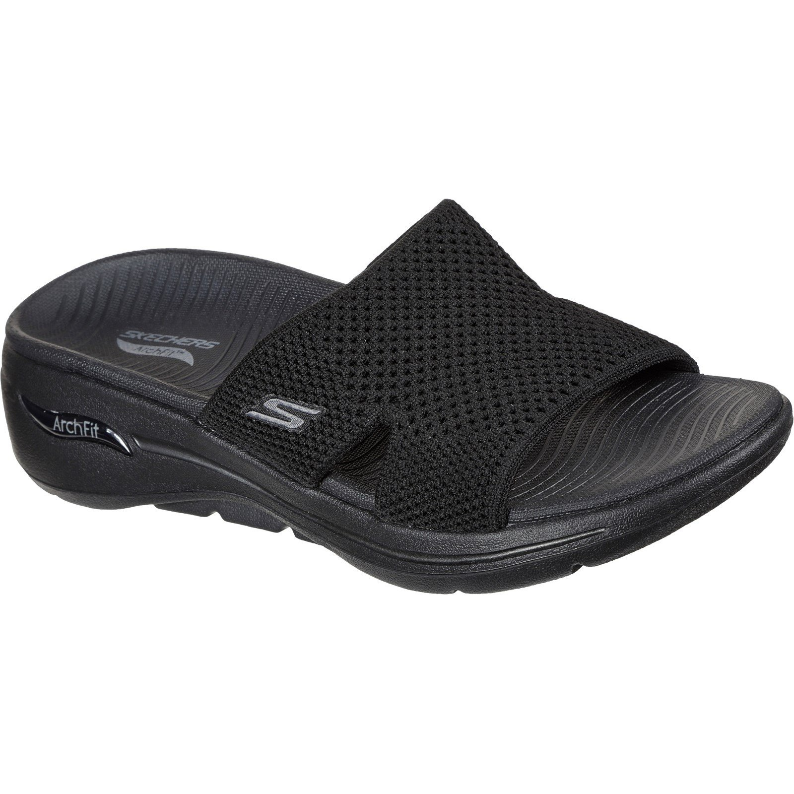 Skechers Women's Go Walk Arch Fit Worthy Summer Sandal Various Colours 32152 - Black 4