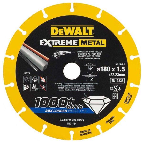 Dewalt Extreme Metal Diamond Edge Diamantkappskive 180 x 22,23 x 1,5 mm