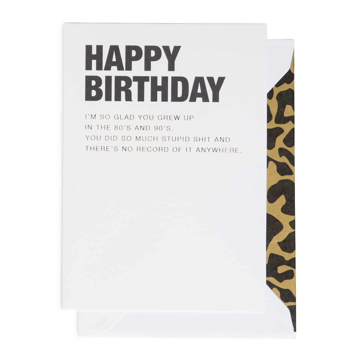 Cardsome   Cards - Happy Birthday 80s & 90s