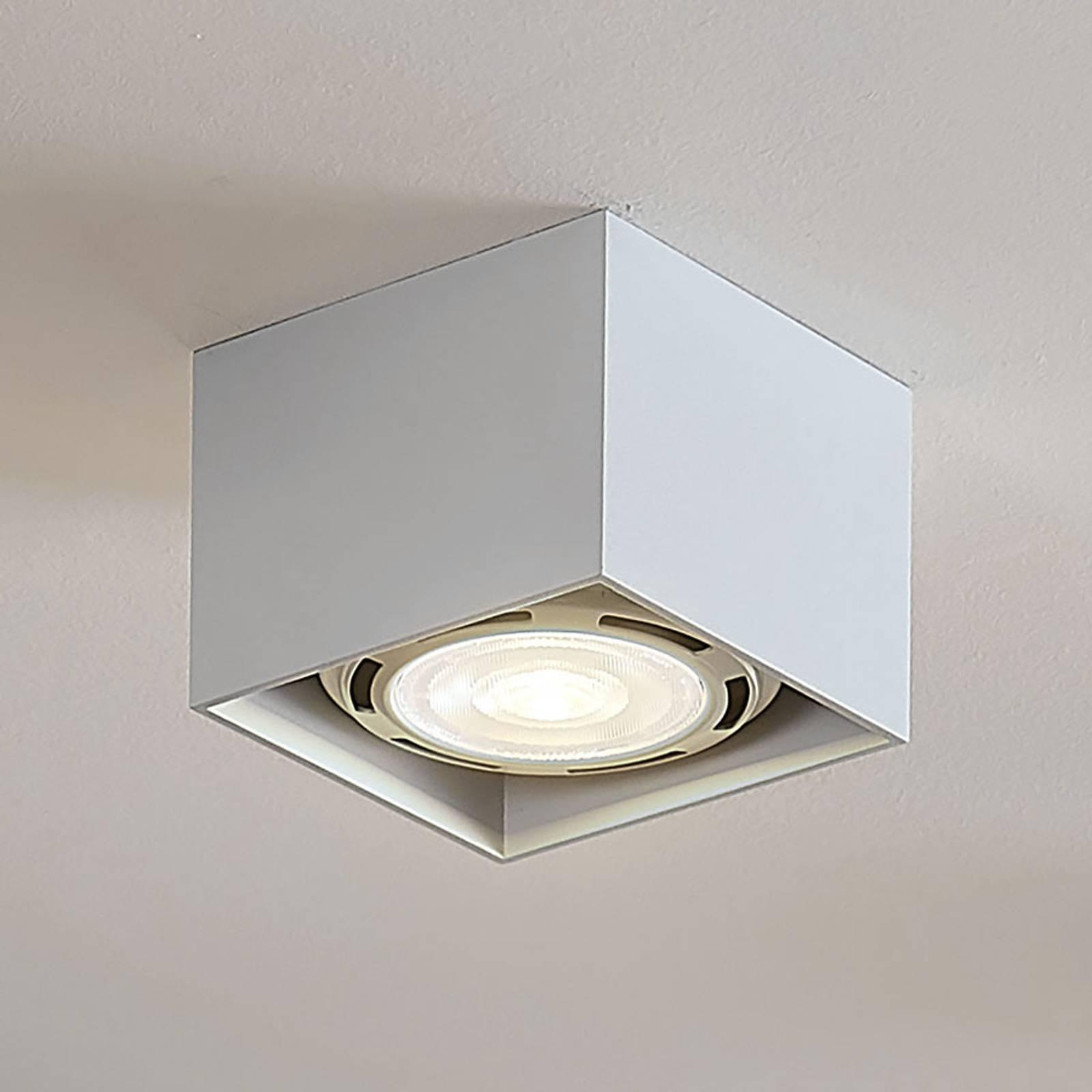 LED-kattospotti Mabel, kulmikas, valkoinen