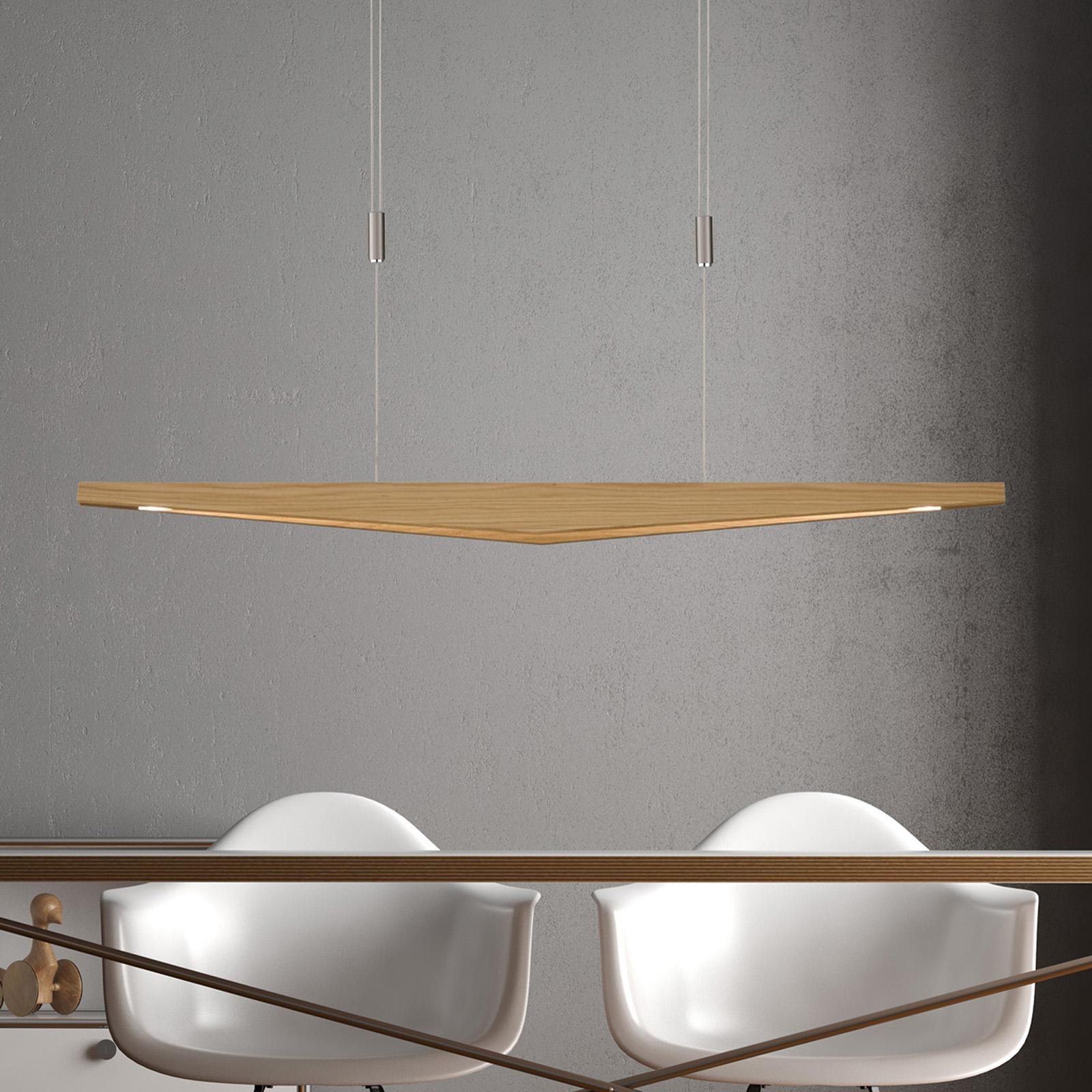 Lucande Dila -LED-riippuvalo luonnontammi, 118 cm