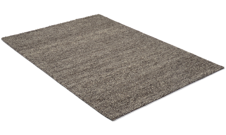 Sarek gråbrun - håndvevd ullteppe