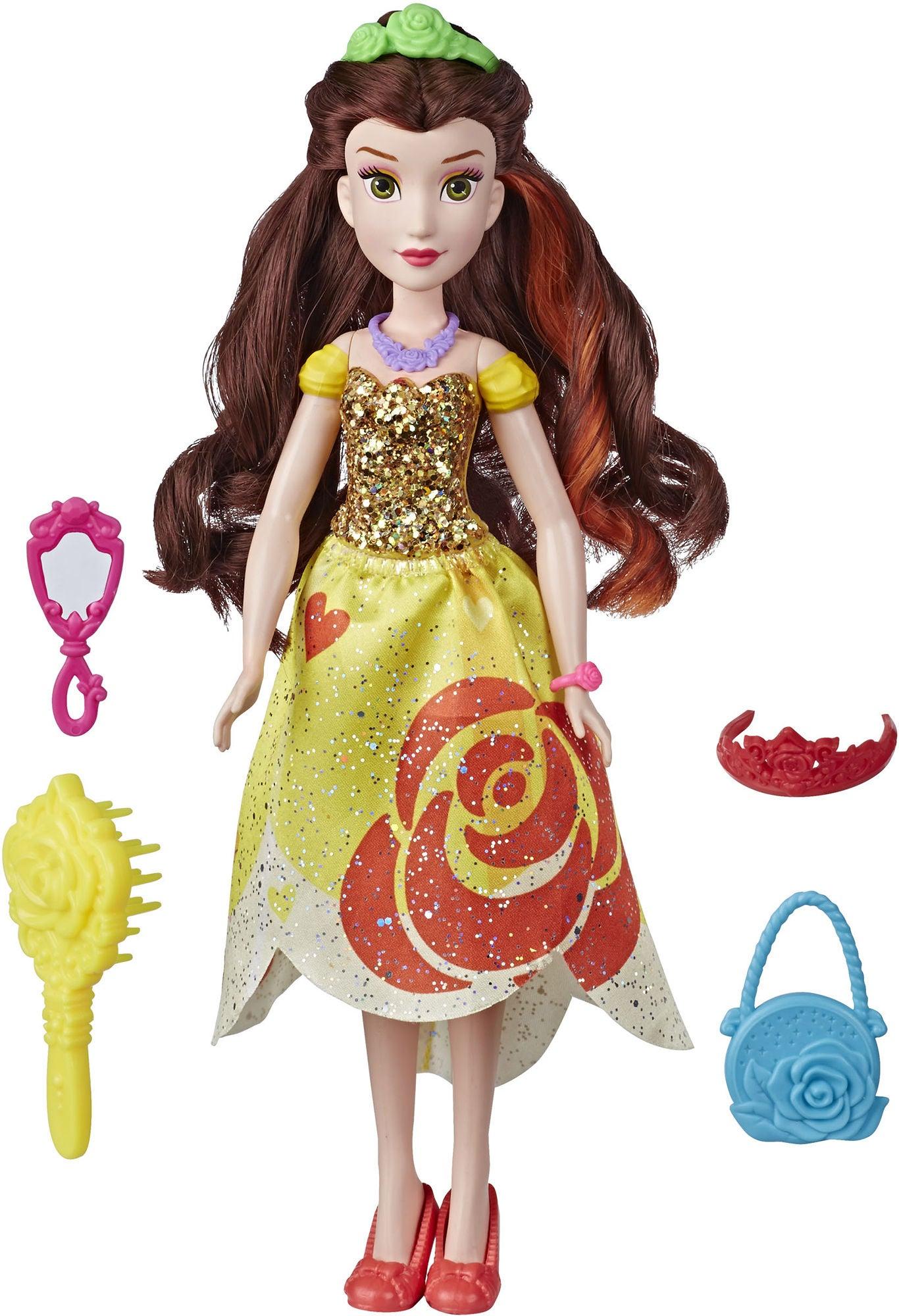 Disney Prinsessat Nukke Belle + Lisätarvikkeet