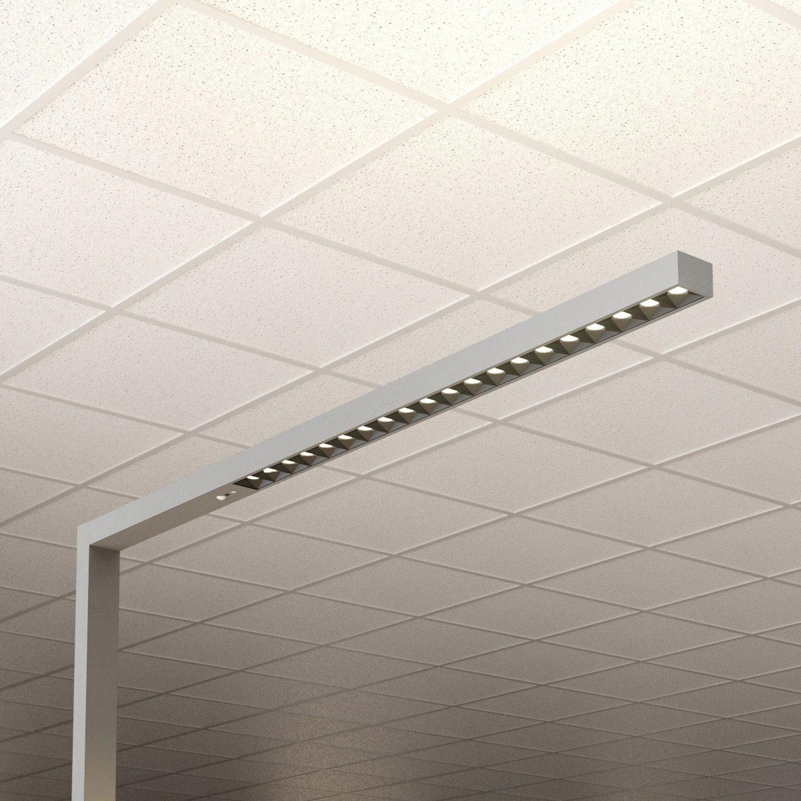 Toimiston LED-lattiavalo Laris hopea 3 000–6 000 K