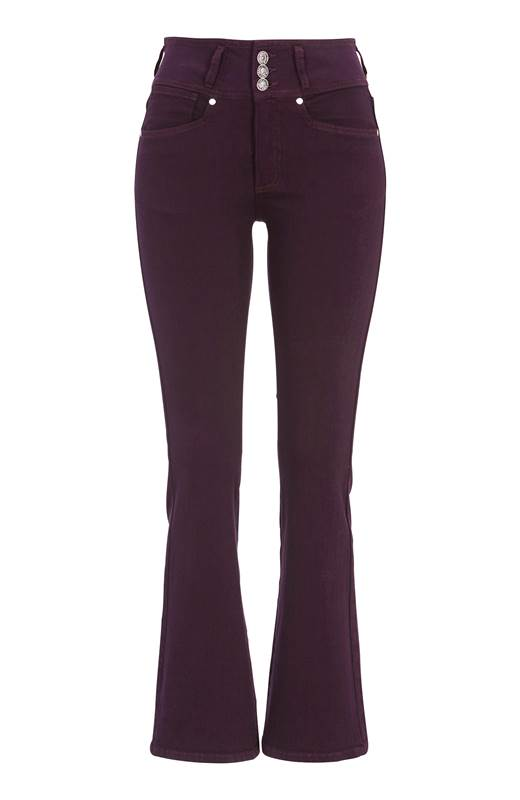 Cellbes Bootcut jeans med hög midja Jennifer Plommon