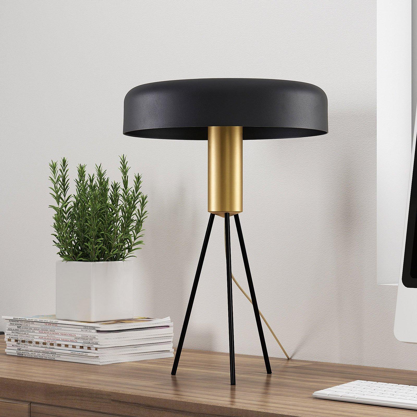Lucande Filoreta bordlampe i svart