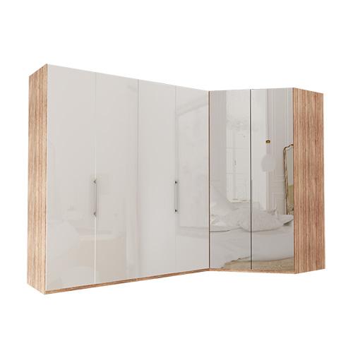 Garderobe Atlanta - Lys rustikk eik 200 cm, 216 cm, Walk-in