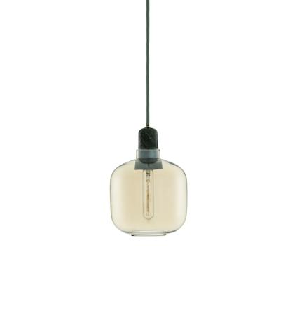 Amp Lampa Guld/Grön Small