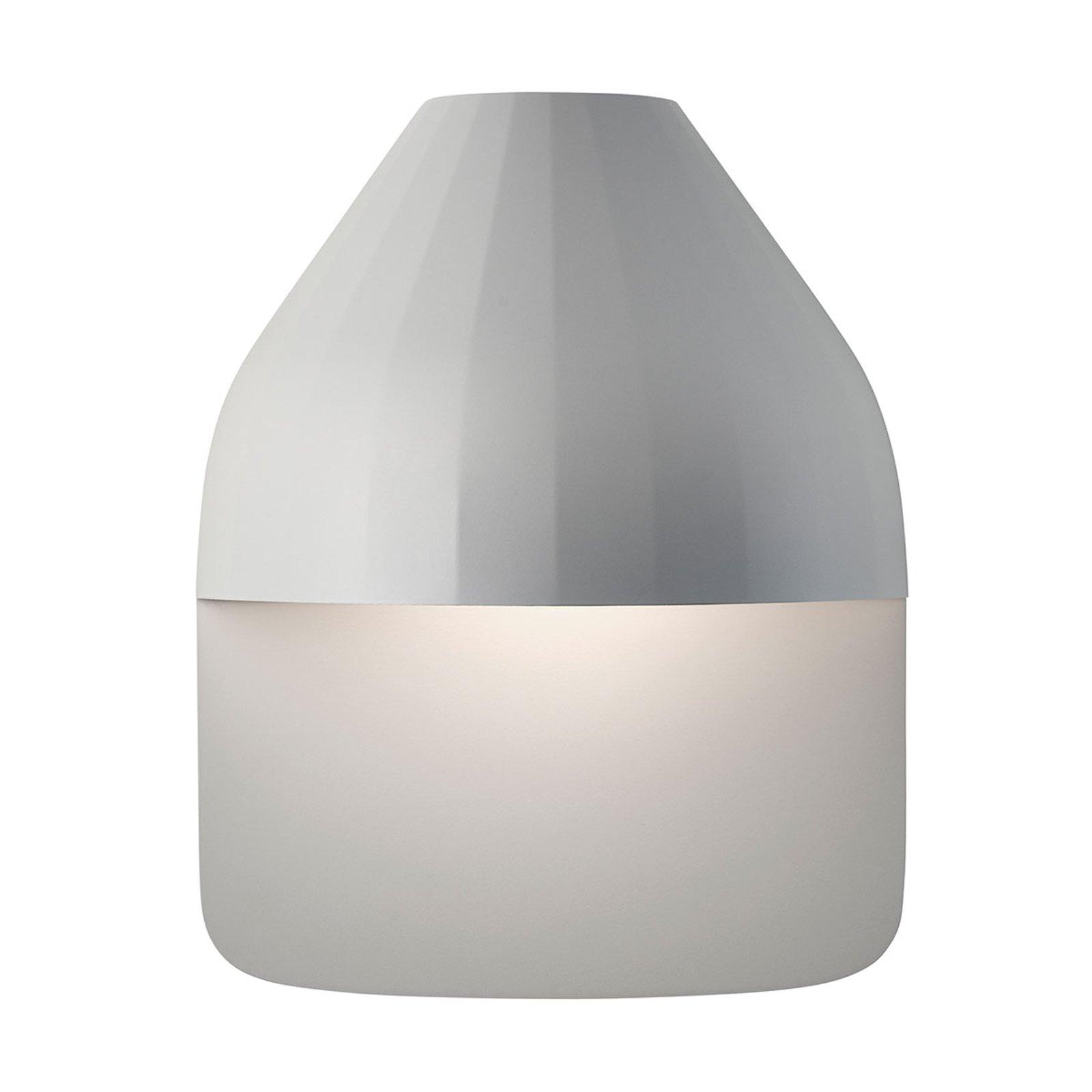LE KLINT Facet Medium - LED-vegglampe, lysegrå