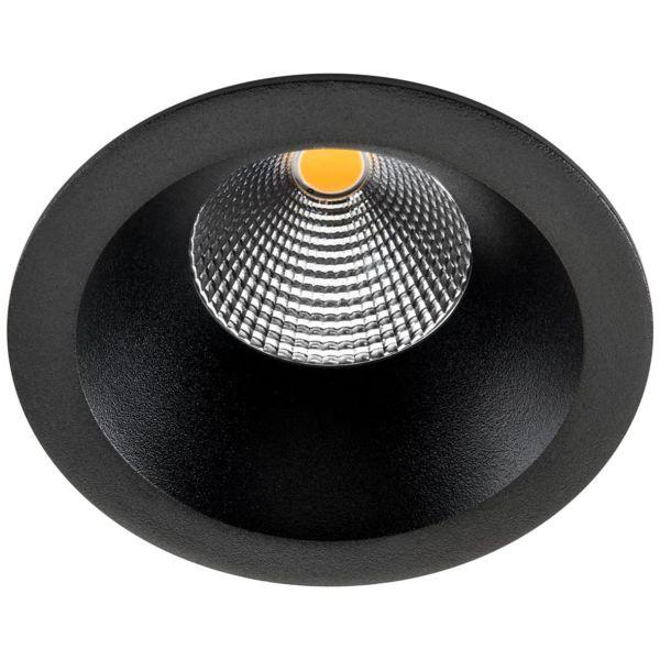 SG Armaturen Junistar Soft Downlight-valaisin musta 2700 K