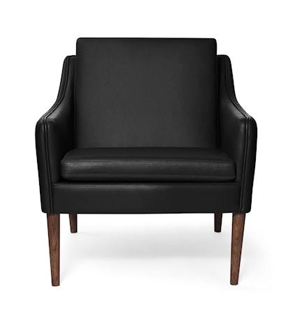 Mr. Olsen Lounge Chair Svart Läder Smoked Ek