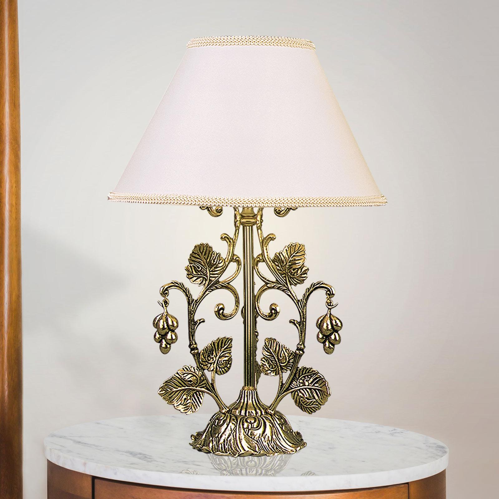 Pöytälamppu Albero ruskeakulta, valkoinen
