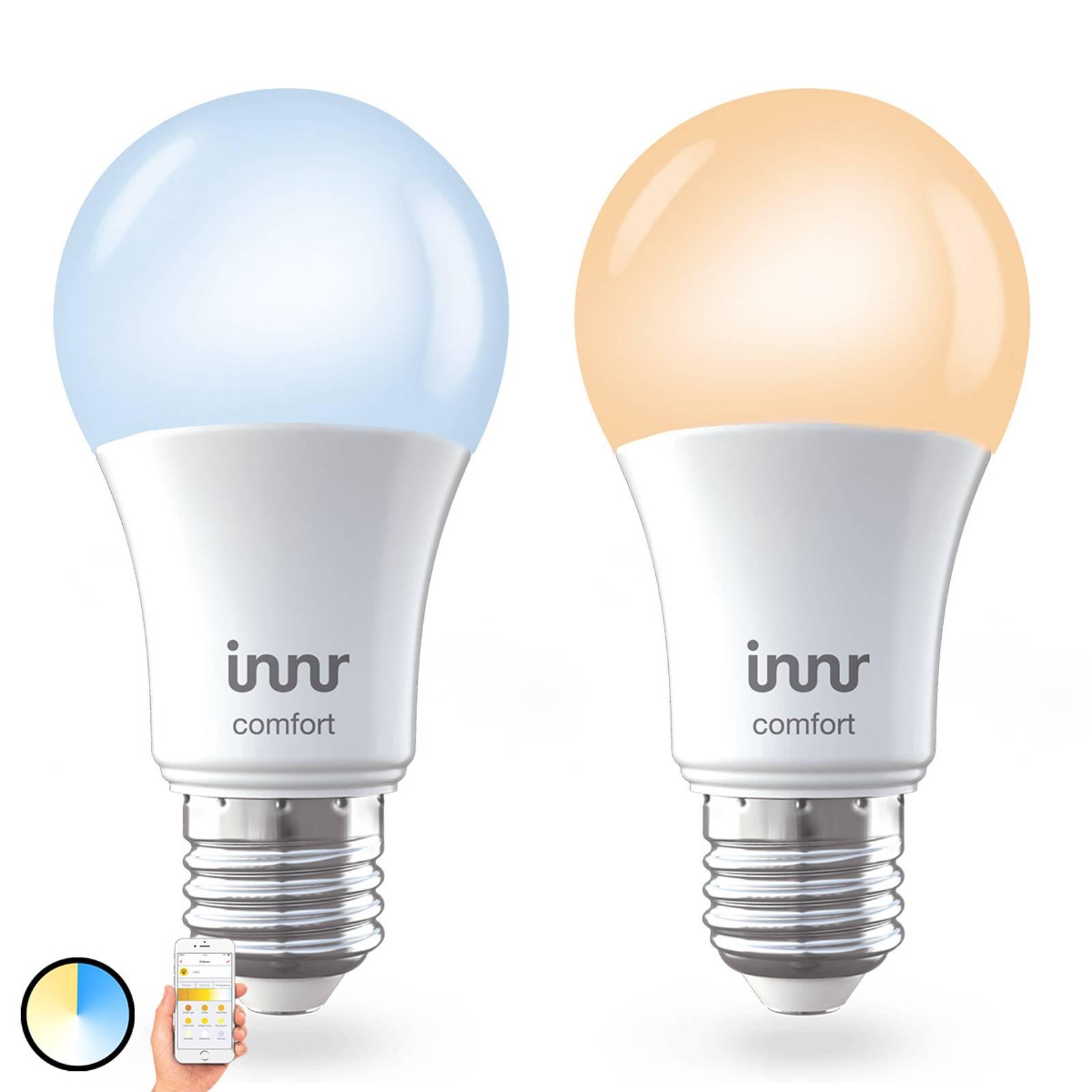 E27 9W LED-lamppu Innr Smart Bulb Comfort, 2 kpl