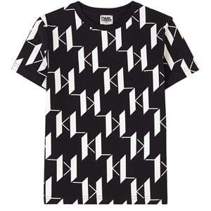 Karl Lagerfeld Kids All Over Logo T-shirt Svart 5 år
