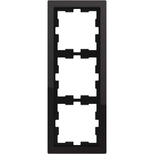Schneider Electric MTN4030-6503 Yhdistelmäkehys 3 aukkoa, lasi Onyx, musta