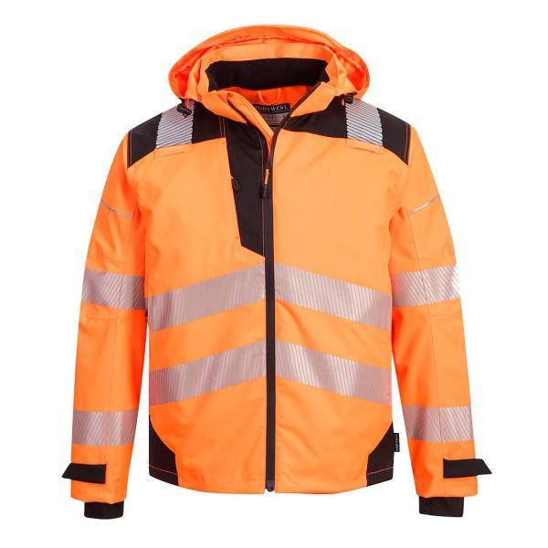 Portwest PW3 Regnjacka Hi-Vis orange, andningsbar S