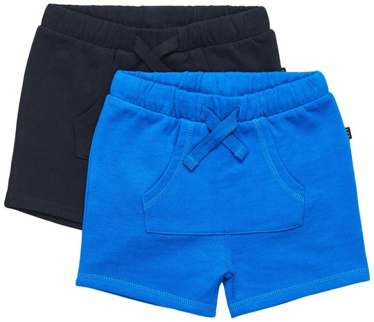Luca & Lola Ricolo Shorts 2-pack, Black/Blue 86-92