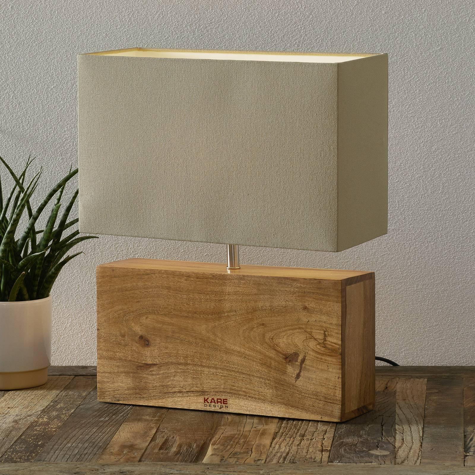 KARE Rectangular Wood -pöytävalaisin, puinen jalka