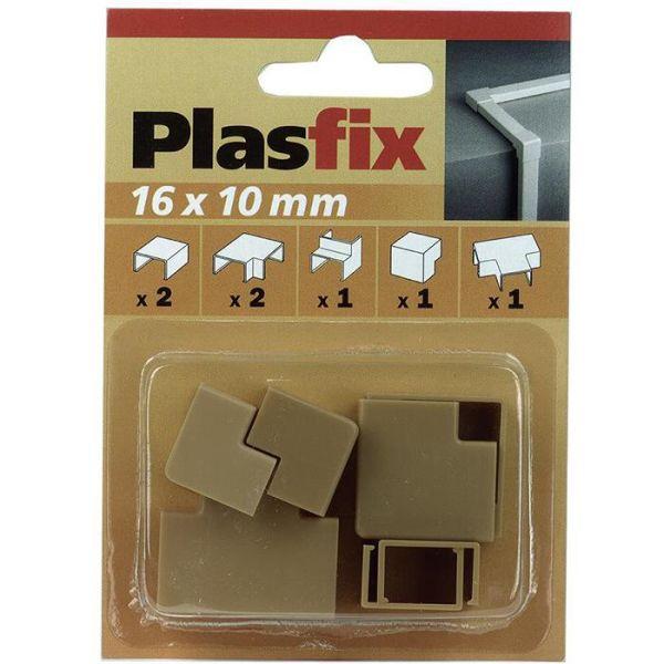 Plasfix 3420-3G Nivelet ja kulmakappaleet Plasfix-kaapelikanaviin, 16 x 10 mm Tammi