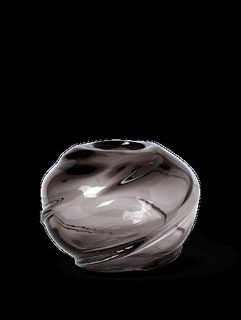Water Swirl Vas Rund Smoked Grey