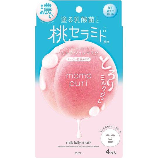 Momopuri Milk Jelly Mask, BCL Kasvonaamio