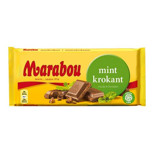 Marabou Mintkrokant Chokladkaka - 200 gram