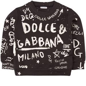 Dolce & Gabbana All Over Logo Sweatshirt Svart 4 år