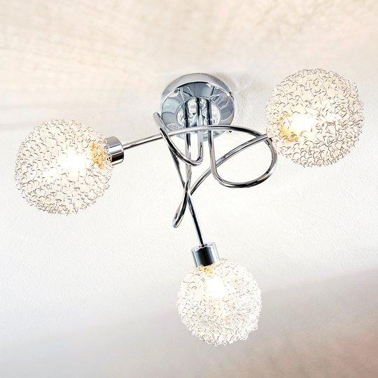 Ticino - LED-kattovalaisin 3-lamppuinen